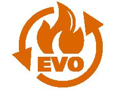 egy speciális égőfej technológia. A rossz minőségű tüzelőanyagok elégetésekor (legyen az rossz minőségű fa pellet, vagy magok, héjak), erős lerakodás keletkezik. Ezt a lerakódást a hagyományos pellet kályhák nem tudják kezelni, és egy idő után az égőfejük eldugul, ami oda vezet, hogy a kályha kikapcsol, vagy leáll. A MultiPellet Evo System egy mechanikusan forgó tengelyt tartalmaz, ami szétporlasztja a rossz minőségű tüzelőanyagból keletkezett hamut, és kihordja a hamutálcába, továbbá levegő segítségével kifújja a finom hamut az égőcsészéből.